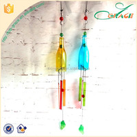 glass bottle wind chimes hanging garden glass ornaments