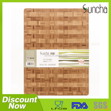 New Design Low Price Bamboo Cutting Board / 1-3.5cm Thickness Square Type Bamboo Wood Chopping Board