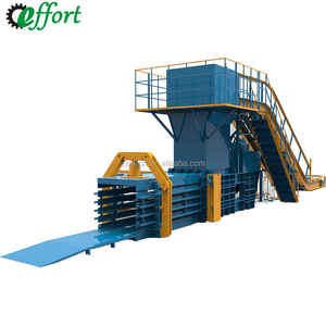 2018 Hot sale horizontal hydraulic cardboard baler/used cotton baler machine/rags packer machinery