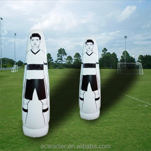 2.0m height inflatable football dummy for training soccer mannequin