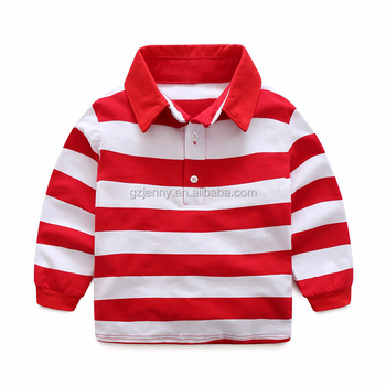 Top Quality Kids Shirts School Uniform shirt boys Long Sleeve Polo Shirt Designs Kids Clothing Wholesale