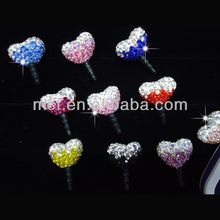 Wholesale diamond cell phone anti dust plug charm for iphone samsung MCD-0010