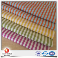 yarn dyed candy colour stripe dobby sateen fabric for women fashion clothing