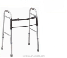 Aluminum one button folding rollator walker for elderly and disabled