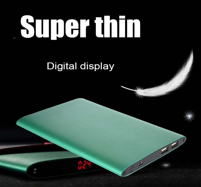 Ultra slim rohs power bank 10000mAh, Wholesale cheap li-polymer battery power bank