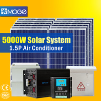 Moge 5kw off grid home solar power system for cctv with high configuration