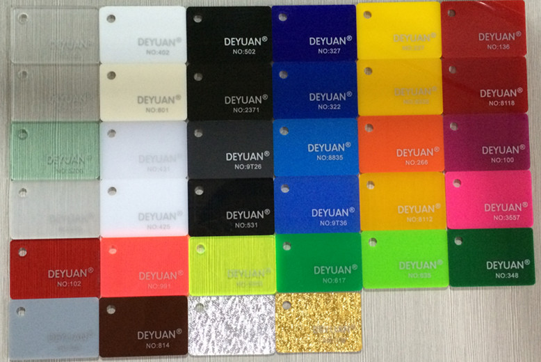 High quality PMMA plexiglass sheets colored acrylic display board