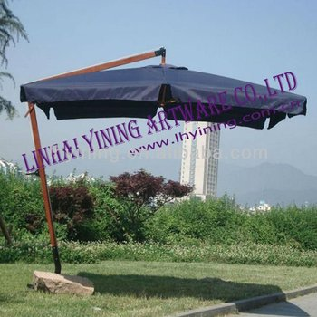 10' hanging wood martking garden umbrella YN7018