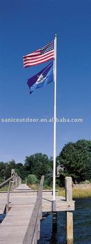 5M Aluminium telescopic flag pole