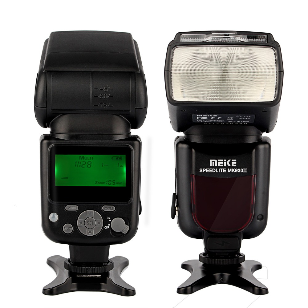 MEIKE MK-930 II LCD GN58 Flash Speedlite Lightings for Canon Nikon Pentax Olympus DSLR