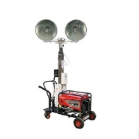 4.5-6m 500w*4 portable 3kw diesel generator portable mobile light tower 3kW Movable Diesel Generator Set with Tower Light