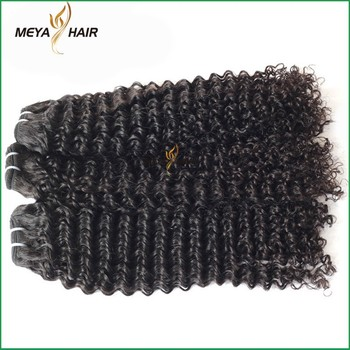 100% Real Indian cuticle aligned hair kinky curly hair weft dropshipping