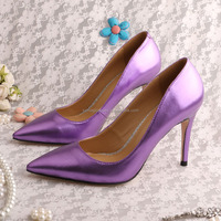 Shiny Purple Party Shoes for Women