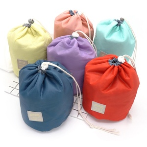 Portable Ladies Travel Wash Toiletry Pouch Folding Makeup Bag Drawstring Cosmetic Bag