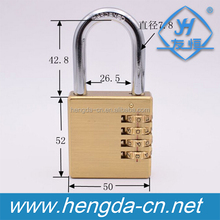 YH1235 High quality 4 digital letter Brass Combination Padlocks