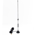 Indoor 433mhz UHF Whip Stainless Steel Omni Magnetic Base Antenna for Walky Talky