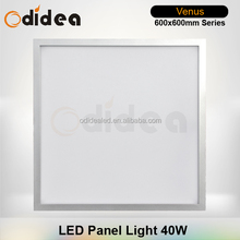 square led panel light 40w for office white, silvery and black aluminum housing flat panel lighting
