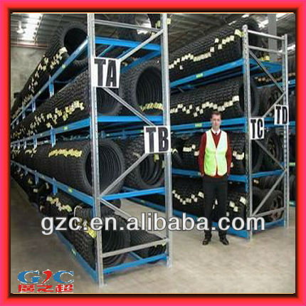4S Store or Warehouse Adjustable Tire Display Rack