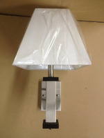 single wall sconce for hotel lighting with silk lamp shade