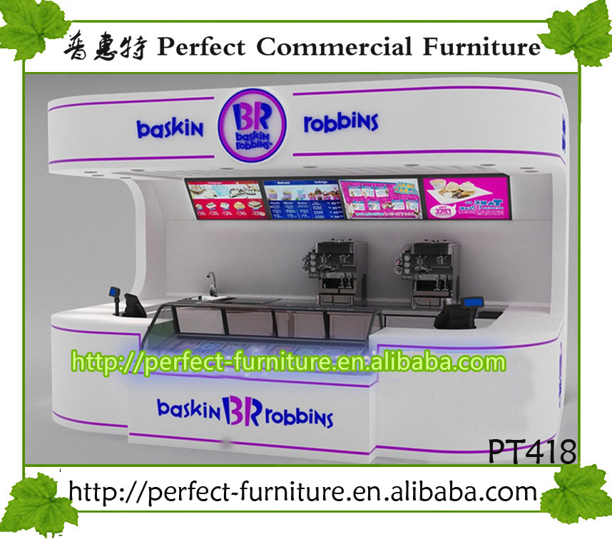 Ready made bubble tea kiosk used in mall