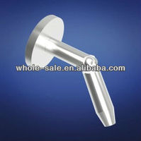stainless steel round glass door canopy fitting HS07SF20R