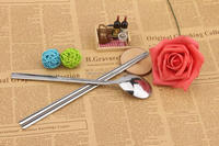 2pcs traveling tableware set(including spoon and chopsticks)