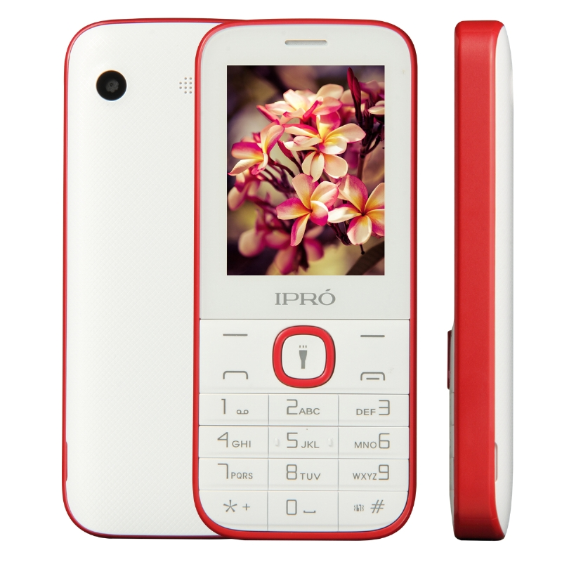 "IPRO I324F 2.4"" simple bar mobile Phones torch MP3 MP4 FM camera mobile telephone for sale"