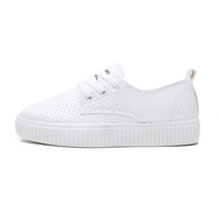 classic white color women causal leather shoes with good price