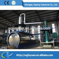 Vacuum Structured Waste Plastic Pyrolysis Oil/Tyre Oil Distillation Disposal Machine Eliminate Smell Become Yellow Color