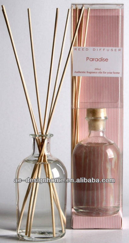 PINK COLOR PARADISE FRAGRANCE 100ML AROMA HOME REED DIFFUSER GIFT SET W/GLASS BOTTLE AND 6 PCS REED