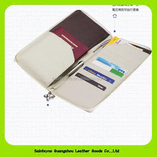 Leather passport with pen slot credit card holder leather rfid shielding wallet travel organizer wallet for men 14027