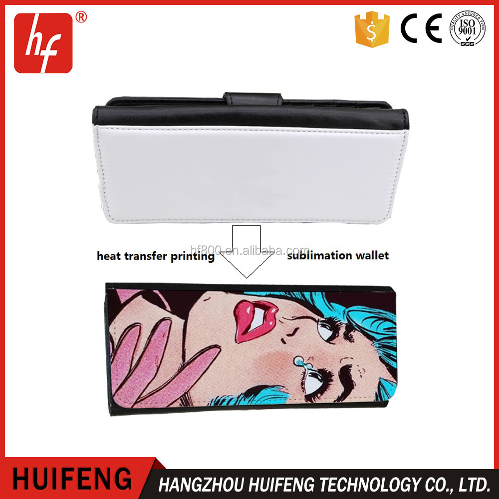 wholesale sublimation blank ladies wallet /DIY wallet/purse/notecase