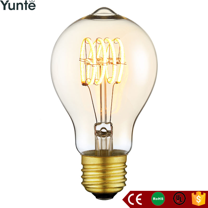 2017 a19 oversized vintage orange filament light bulbs lamp design for house coffee loft bar