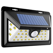 Outdoor Wireless Waterproof Security Motion Sensor 34LED Solar Powered Led Wall Light