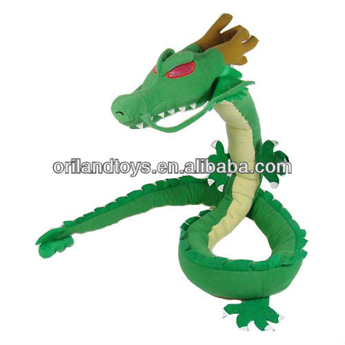 green soft plush hot sale plush toy dragon