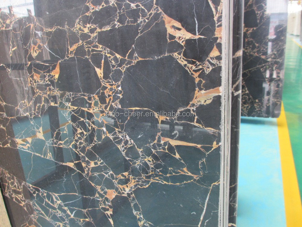 Athens black and gold marble