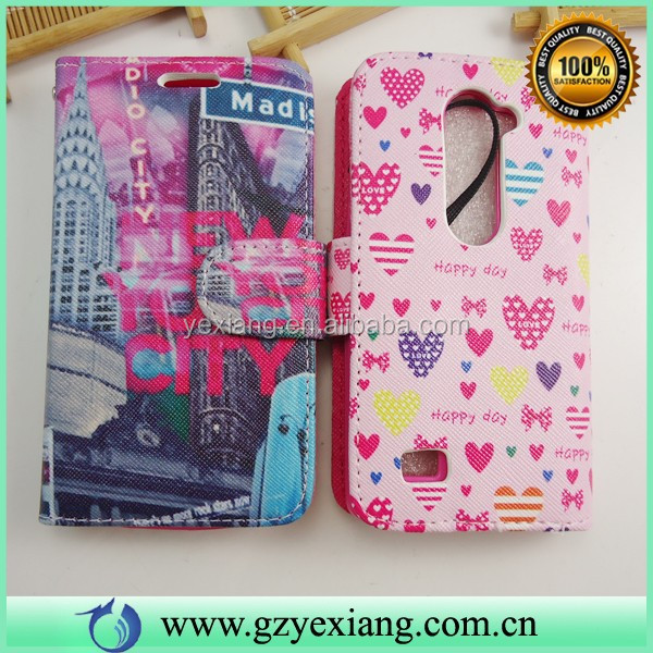 Wholesale Protective PU Leather Cell Phone Cases For LG Leon H320