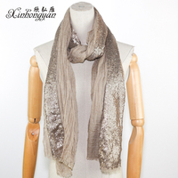 High quality Low price novel lady scarf with sequins