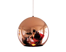 Modern creative mirror glass ball pendant light for home and restaurant