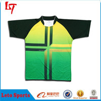 Small MOQ China sublimated clothing wholesale custom rugby jersey