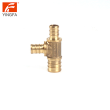 62012-1288 Brass pex fitting Female Threaded Pipe Reducing Tee