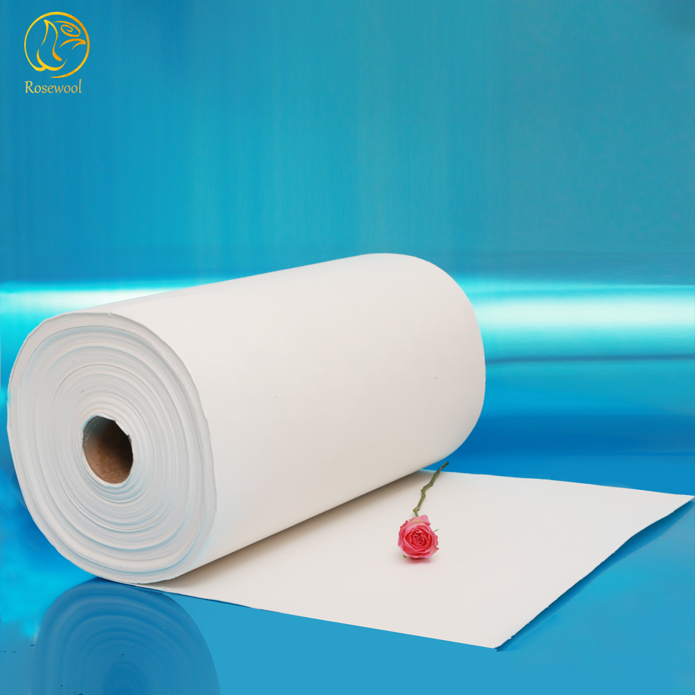 Excellent strength and resistance to blowing 1260c fire resistant ceramic fiber paper