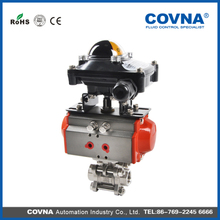 stainless steel pneumatic ball valve with limited switch box