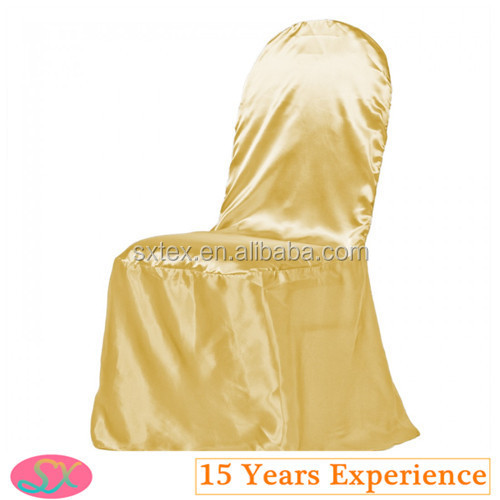 Popular Satin Gold Wedding Chair Cover