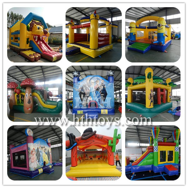 HOT sale cheap inflatable tropical castle for kids