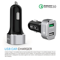 2017 New universal Quick Charge 3.0 Charger 2 Ports USB Fast Car Charger Adapter QC3.0 for Galaxy S7/S8/Edge/Plus