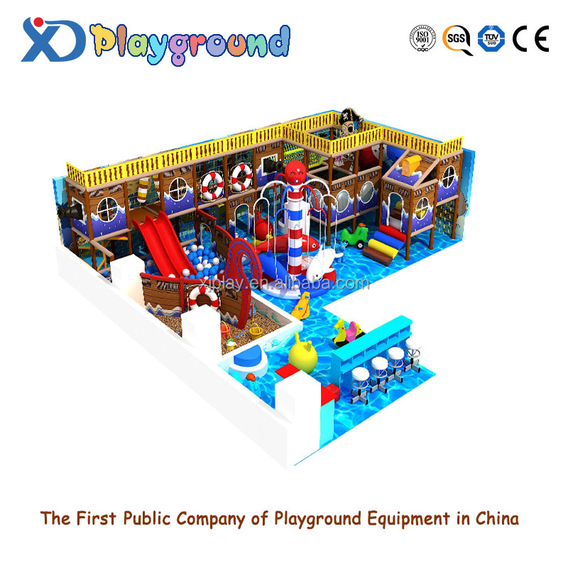 Commercial ocean style soft indoor playground for children