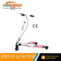 Frog kick scooter three wheel self balancing speeder scooter