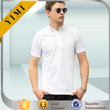 2017 OEM fashion design wholesale rib collar mens short sleeve blank golf polo t shirt