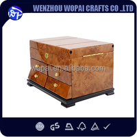 New arrive luxury import piano lacquered bird eye wood jewelry box home decoration